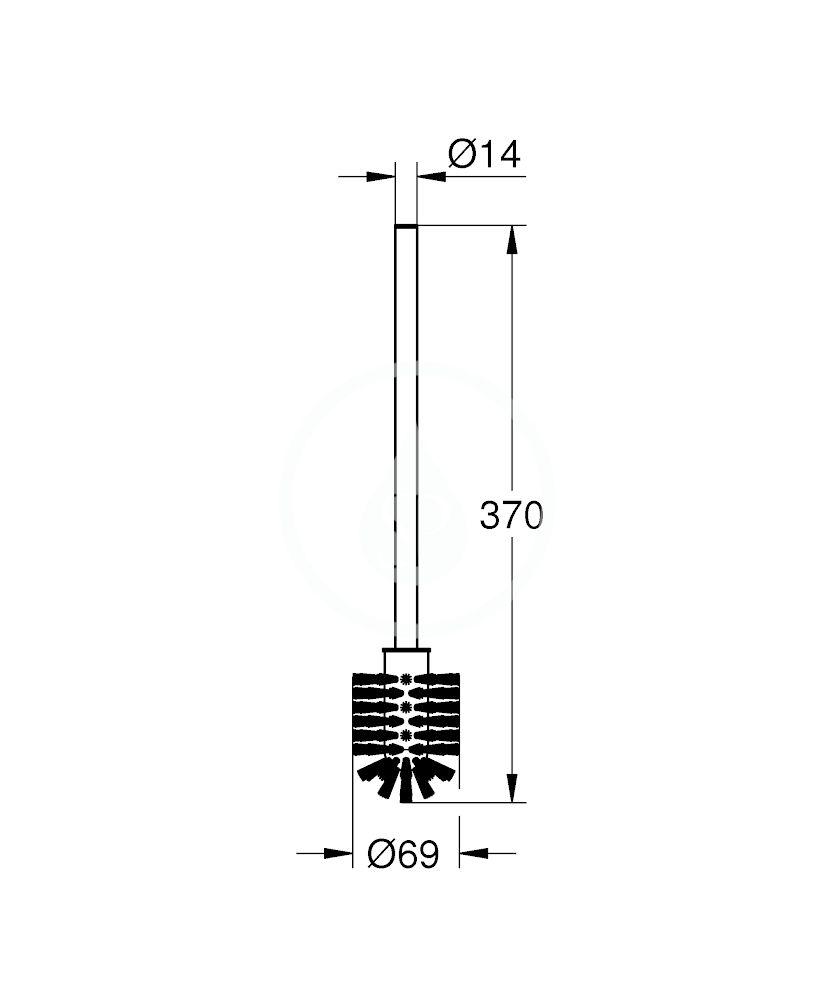 GROHE - Náhradní díly Náhradní kartáč, chrom (40392000)
