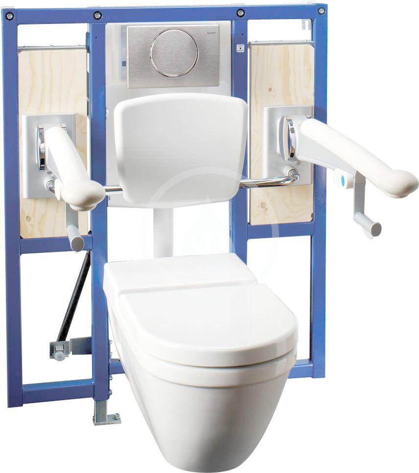 GEBERIT - Duofix Montážní prvek pro závěsné WC, 112 cm, splachovací nádržka pod omítku Sigma 12 cm, bezbariérový, pro podpěry (111.375.00.5)