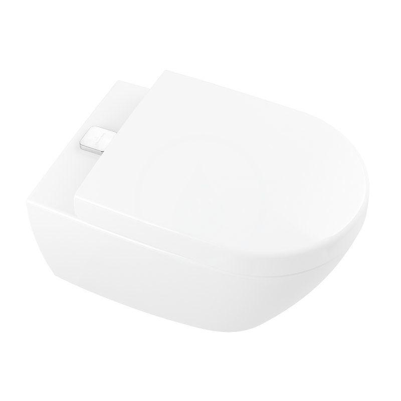 VILLEROY & BOCH - Subway 2.0 Závěsné WC s hlubokým splachováním, AntiBac, s CeramicPlus, alpská bílá (5614A1T2)