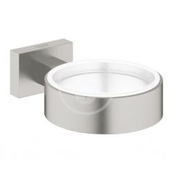 GROHE - Essentials Cube Držák skleničky/mýdelníku, kartáčovaný Hard Graphite (40508AL1)