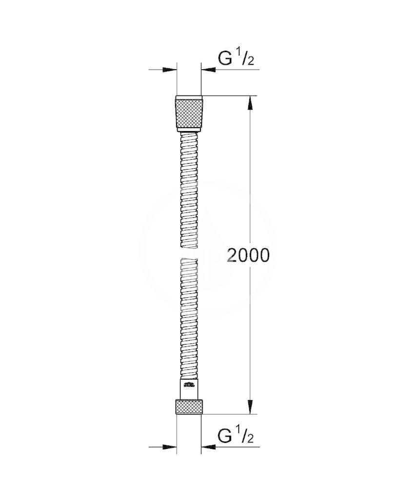 GROHE - Hadice Kovová sprchová hadice, chrom (28140000)