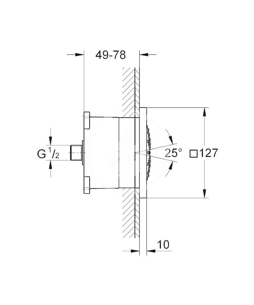 GROHE - Rainshower F Boční sprcha s jedním proudem, Series 5, chrom (27251000)