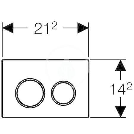 GEBERIT - Omega20 Ovládací tlačítko OMEGA20, černá/lesklý chrom (115.085.KM.1)