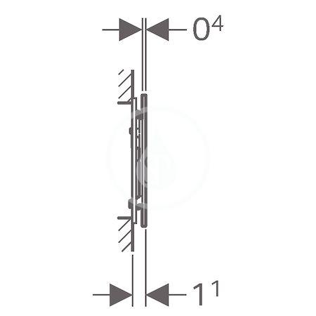 GEBERIT - Sigma70 Ovládací tlačítko Sigma70, pro splachovací nádržku pod omítku Sigma 12 cm, černá (115.620.SJ.1)