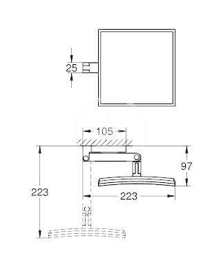 GROHE - Selection Cube Kosmetické zrcátko, chrom (40808000)