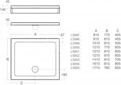 IDEAL STANDARD - Simplicity Stone Sprchová vanička 1210x810 mm, bílá (L505101), fotografie 2/1