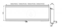 SANELA - Nerezové pisoárové žlaby Nerezový pisoárový žlab na podlahu, délka 1200 mm (SLPN 03Z), fotografie 2/1