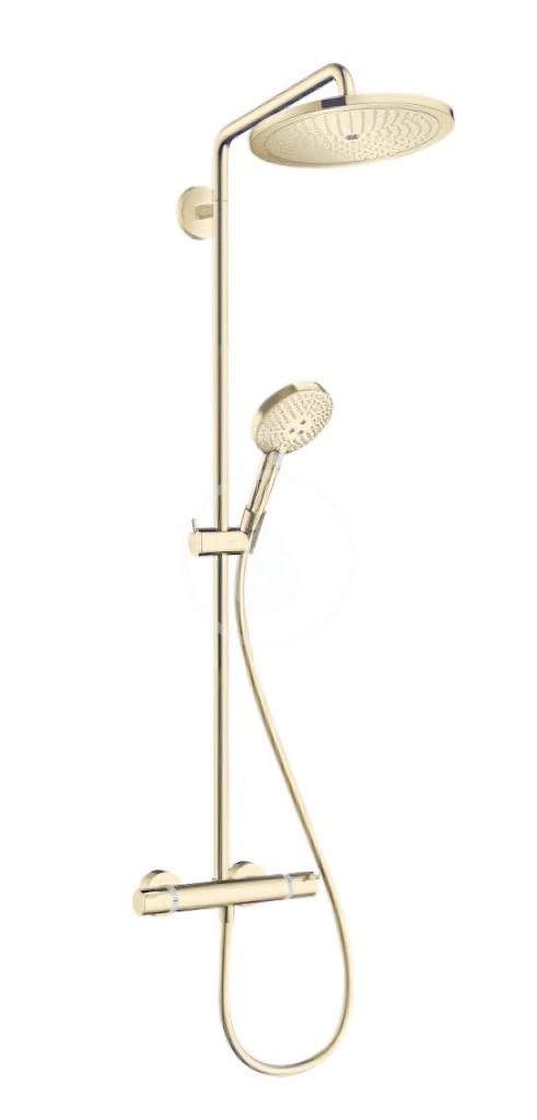 HANSGROHE Croma Select S Sprchový set Showerpipe 280 s termostatem, EcoSmart, leštěný vzhled zlata 26891990