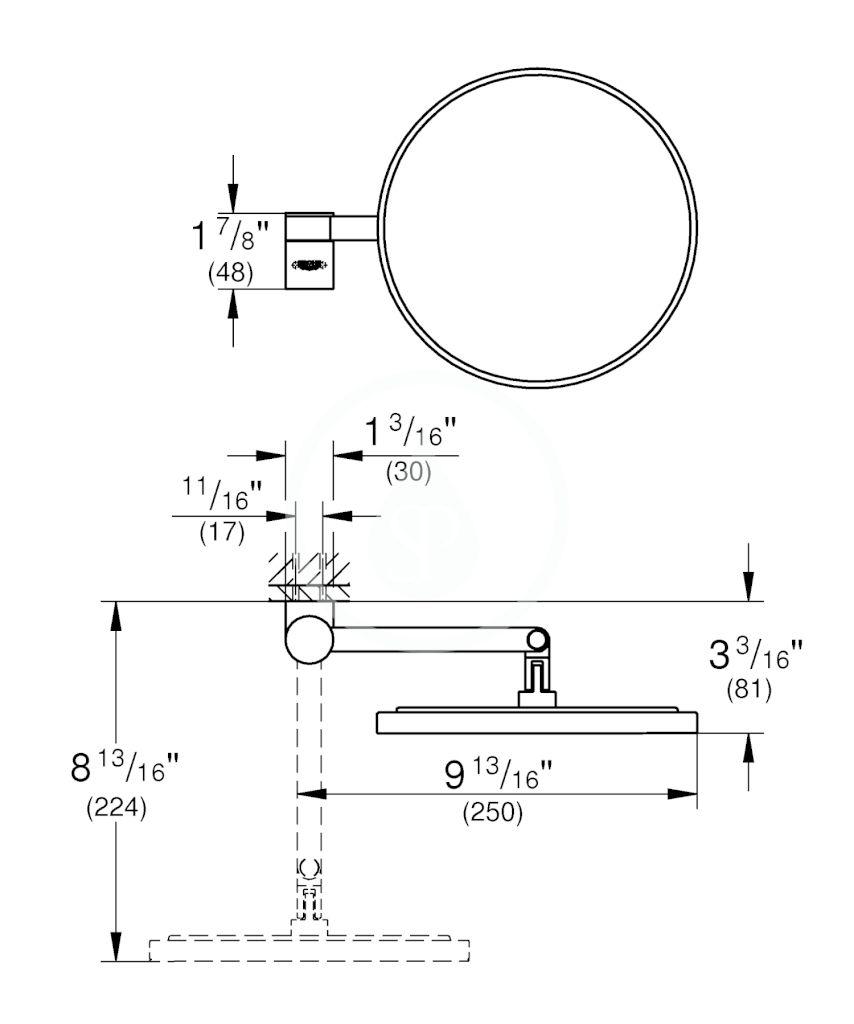GROHE - Selection Kosmetické zrcátko, chrom (41077000)
