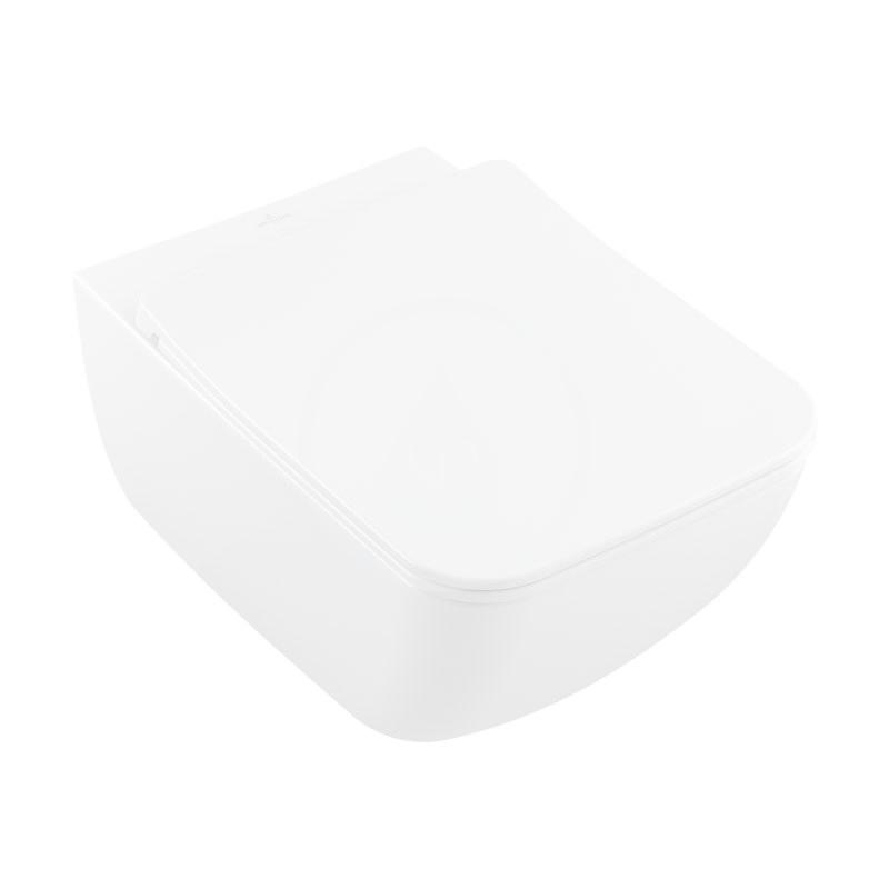 VILLEROY & BOCH Venticello Závěsné WC se sedátkem SoftClosing, DirectFlush, CeramicPlus, alpská bílá 4611RLR1