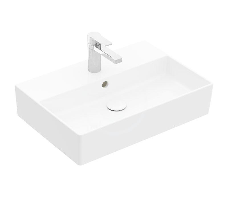 VILLEROY & BOCH Memento 2.0 Umyvadlo nábytkové 600x420 mm, s přepadem, otvor pro baterii, alpská bílá 4A226G01