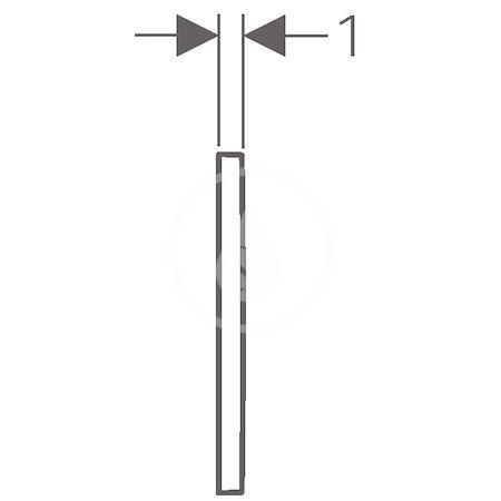 GEBERIT - Omega30 Ovládací tlačítko OMEGA30, bílá/pozlacená (115.080.KK.1)