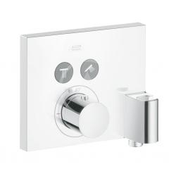 AXOR - ShowerSelect Termostat pod omítku Square pro 2 spotřebiče s jednotkou FixFit a držákem, chrom (36712000)
