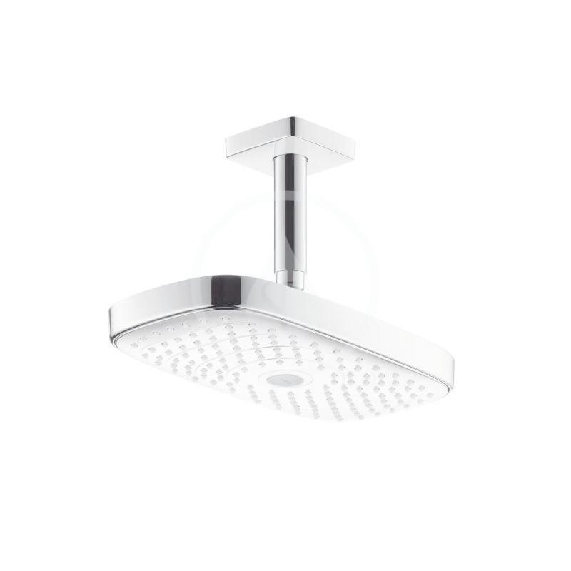HANSGROHE Raindance Select E Hlavová sprcha 300, 2 proudy, sprchové rameno 100 mm, bílá/chrom 27384400