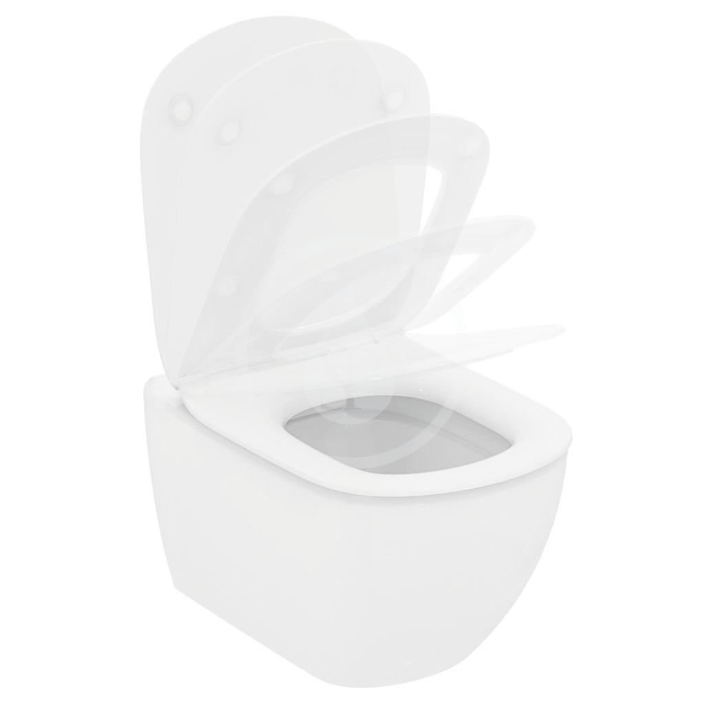 IDEAL STANDARD - Tesi Závěsný klozet, Rimless, bílá (T350301)