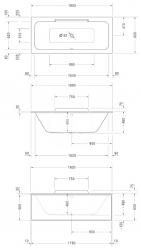 DURAVIT - DuraStyle Vana 1800x800 mm, alpská bílá (700298000000000), fotografie 2/3