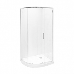 JIKA - Tigo Asymetrický sprchový kout 980x780 mm, stříbrná/sklo arctic (H2512110026661)