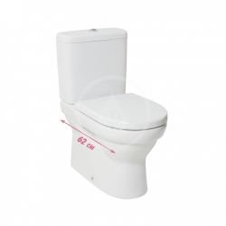 JIKA - Tigo WC mísa kombi, boční napouštění, bílá (H8242160000001)