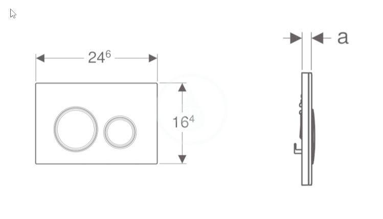 GEBERIT - Sigma21 Ovládací tlačítko splachování, bez výplně/lesklý chrom (115.884.00.1)