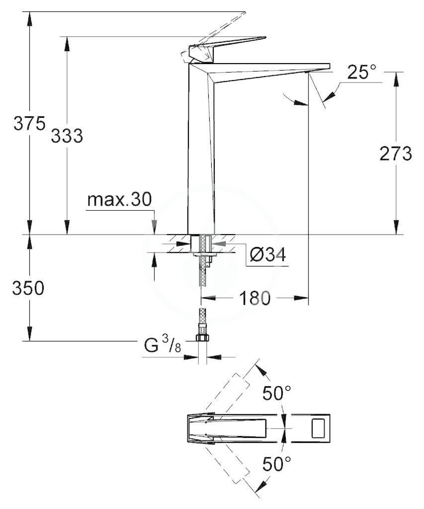 GROHE - Allure Brilliant Baterie pro umyvadlovou mísu, chrom (23114000)