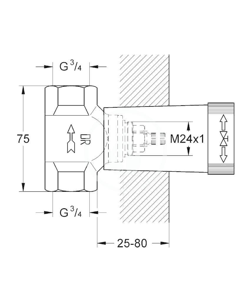 GROHE - Příslušenství Spodní díl podomítkového ventilu (29802000)