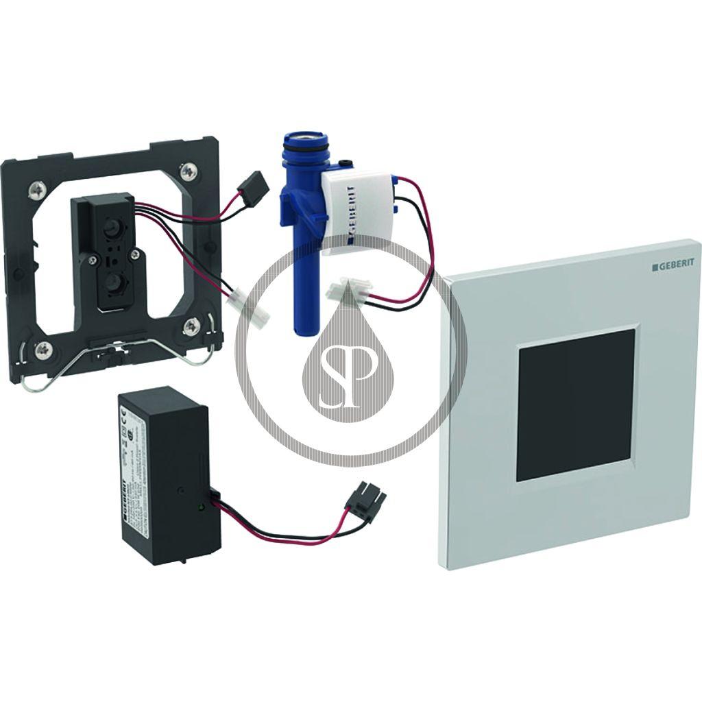 GEBERIT - Splachovací systémy Elektronické ovládání splachování pisoárů Typ 30, síťové napájení, matný chrom (116.027.KN.1)