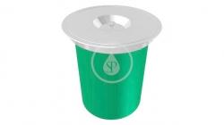 FRANKE - KEA Vestavný odpadkový koš E12, zelená/nerez (134.0035.042)