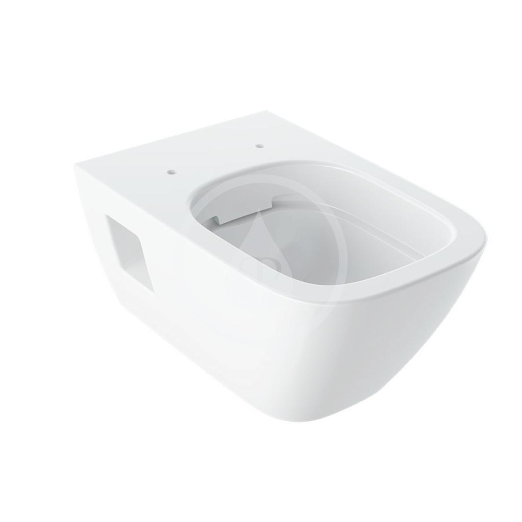 GEBERIT Selnova Square Závěsné WC, 540x350 mm, Rimfree, bílá 501.546.01.1
