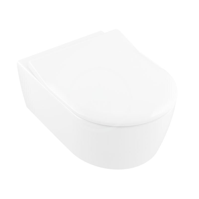 VILLEROY & BOCH Avento Závěsné WC se sedátkem SoftClosing, DirectFlush, CeramicPlus, alpská bílá 5656RSR1