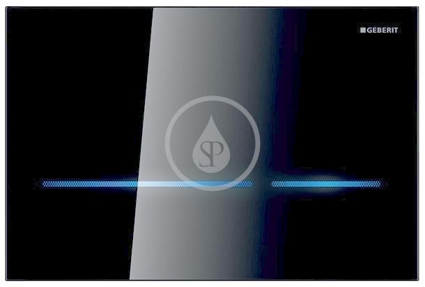 GEBERIT Sigma80 Elektronické ovládací tlačítko Sigma80, bezdotykové, pro 2 množství splachování, sklo černé 116.090.SG.1