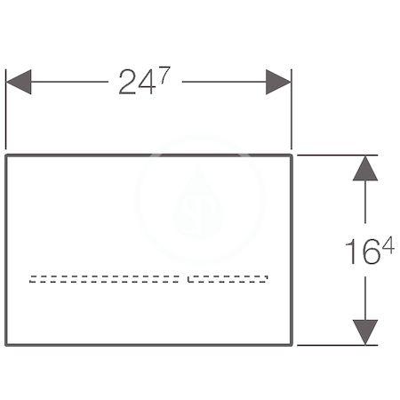 GEBERIT - Sigma80 Elektronické ovládací tlačítko Sigma80, bezdotykové, pro 2 množství splachování, sklo černé (116.090.SG.1)