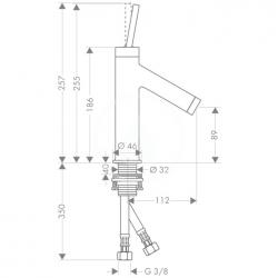 AXOR - Starck Páková umyvadlová baterie, chrom (10117000), fotografie 10/5