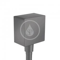 HANSGROHE - Fixfit Přípojka hadice Square se zpětným ventilem, matná černá (26455670)