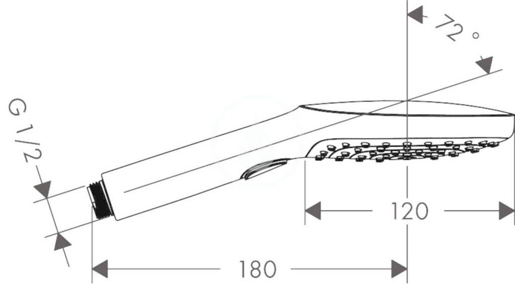 HANSGROHE - Raindance Select E Sprchová hlavice 120, 3 proudy, leštěný vzhled zlata (26520990)