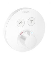 HANSGROHE - Shower Select Termostatická baterie pod omítku pro 2 spotřebiče, matná bílá (15743700)