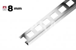 Ostatní - Lišta ukončovací L nerez kartáčovaná  8mm     d.2,5m  (AAELK80)