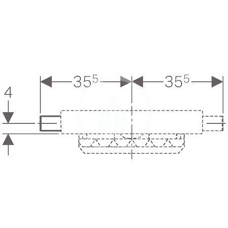 GEBERIT - Kombifix Montážní prvek pro sprchu, s odtokem ve stěně, pro výšku mazaniny u vtoku 90–200 mm (457.534.00.1)
