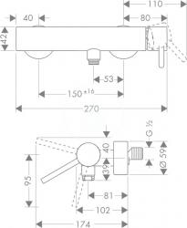 AXOR - Starck Páková sprchová baterie, chrom (10611000), fotografie 4/3