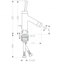 AXOR - Starck Bidetová baterie s výpustí, chrom (10211000), fotografie 6/3