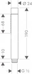 AXOR - Sprchový program Sprchová hlavice, 2 proudy, chrom (28532000), fotografie 6/4