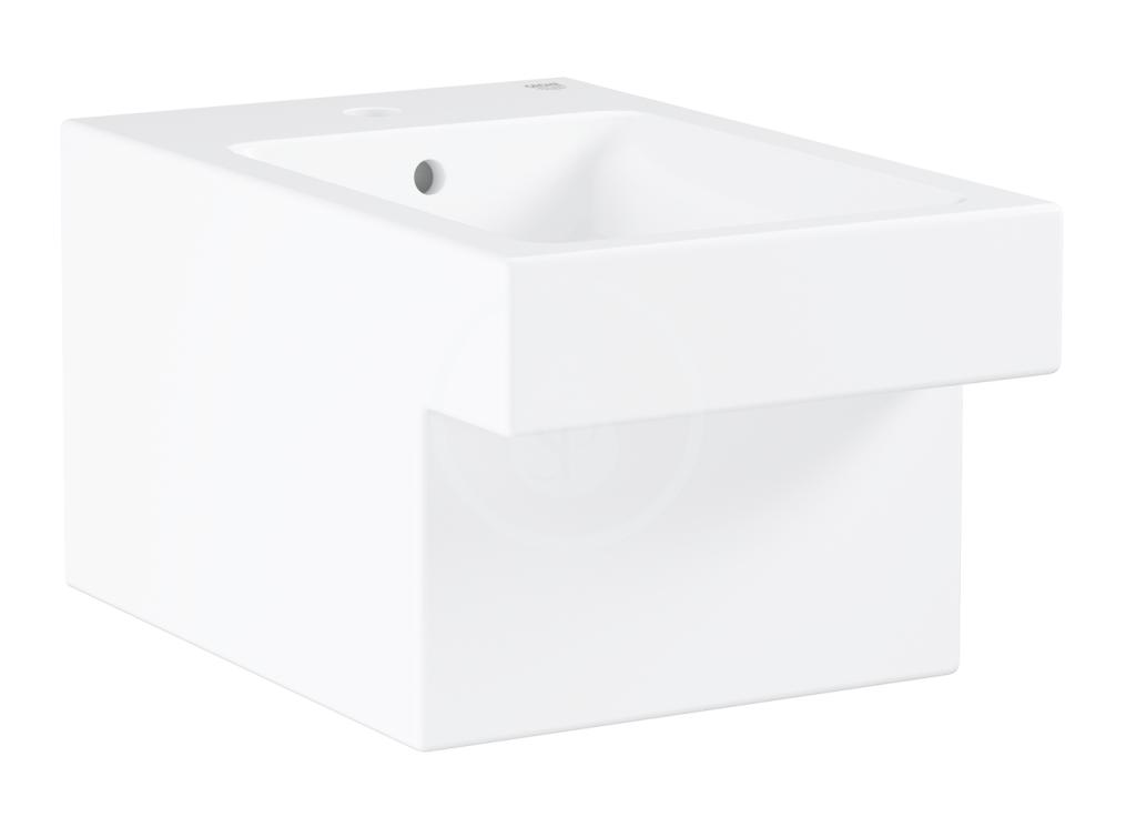 GROHE Cube Ceramic Závěsný bidet s přepadem, PureGuard, alpská bílá 3948600H