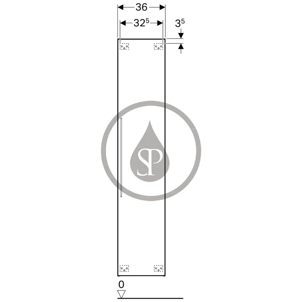 GEBERIT - iCon Vysoká skříňka, 360x1800x309 mm, bílá lesklá (840000000)