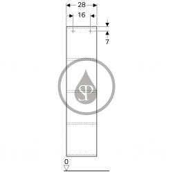 GEBERIT - iCon Zrcadlová skříňka 280x1200x140 mm, bílá lesklá (840028000), fotografie 4/2