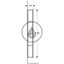 GEBERIT - iCon Zrcadlová skříňka 280x1200x140 mm, bílá lesklá (840028000), fotografie 2/2