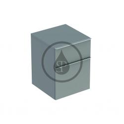 GEBERIT - iCon Postranní skříňka, 450x600x477 mm, platinová lesklá (840047000)