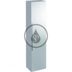GEBERIT - iCon Vysoká skříňka s dvířky a zrcadlem, 360x1500x309 mm, bílá lesklá (840150000)