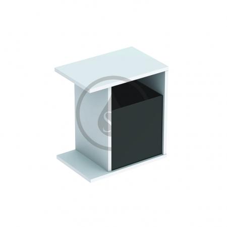 GEBERIT - iCon xs Postranní prvek s úložnou přihrádkou, 370x400x273 mm, bílá lesklá (840237000)