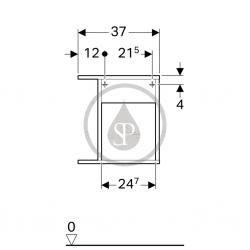 GEBERIT - iCon xs Postranní prvek s úložnou přihrádkou, 370x400x273 mm, bílá lesklá (840237000), fotografie 2/3
