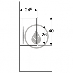 GEBERIT - iCon xs Postranní prvek s úložnou přihrádkou, 370x400x273 mm, bílá lesklá (840237000), fotografie 4/3