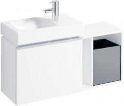 GEBERIT - iCon xs Postranní prvek s úložnou přihrádkou, 370x400x273 mm, bílá lesklá (840237000), fotografie 6/3